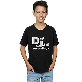 Def Jam Records Boys Distressed Logo T-Shirt