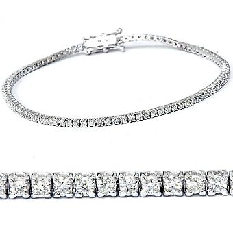 ct 1 laboratorio creado diamante oro blanco 18K pulsera de tenis 7