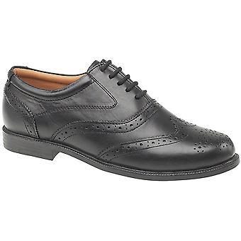 Amblers Mens Liverpool blonder skinn Oxford aksent stil Shoe svart