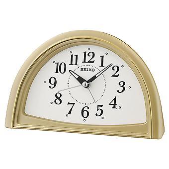 Seiko analogowy sygnał budzik złota (nr kat. QHE166G)