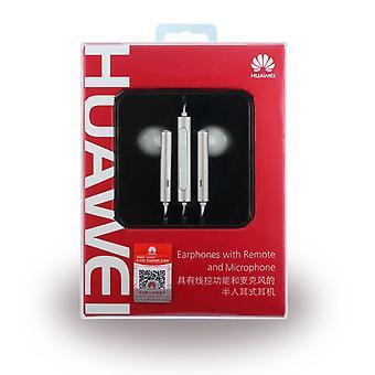 Huawei bolha Am116 fone de ouvido fone de ouvido com controle remoto, microfone branco / prata para Smartphone