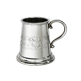 Celtic Band Embossed Child's Pewter Tankard - � pint