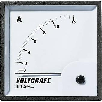 Analoge Rack-Mount-Messgerät VOLTCRAFT pm-72 X 72/10A 10 A Moving iron