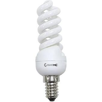 LightMe Energy-saving bulb EEC: A (A++ - E) E14 106 mm 230 V 10 W Warm white Spiral shape 1 pc(s)