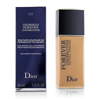 Christian Dior Diorskin Forever Undercover 24h Wear Full Coverage Water Based Foundation - # 033 Apricot Beige - 40ml/1.3oz