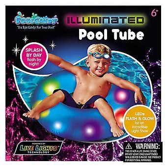 Bonbons de piscine illuminée piscine Tube
