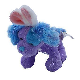 Soft Spots Sparkle Pet with Bunny Ears, Purple Dog