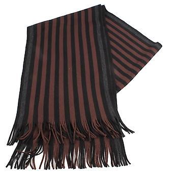 Bassin och brun Lyttleton Stripe Scarf - brun/svart/grå