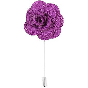 David Van Hagen flor prendedor - púrpura