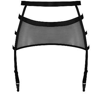 Aranha cor preta sólida cinto suspensórios cinta Marlies Dekkers 17654 feminino-liga
