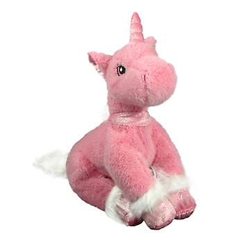 22cm Pink Unicorn (Sitting) Plush