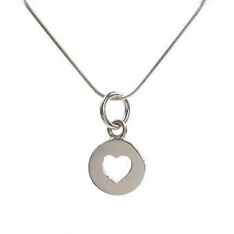 Fermé de Cavendish Français en argent Sterling pendentif coeur sans chaîne