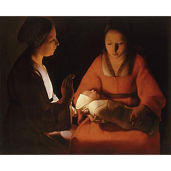 Der Neugeborene, Georges de La Tour, 50x40cm