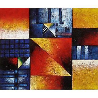 Absztrakt, olajfestmény vásznon, 50x60 cm