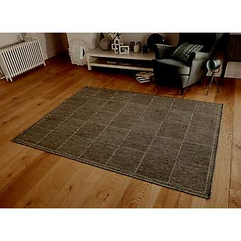 Checked Flatweave Grey This rug has a significnat amount of Brown within it Rectangle Rugs Plain/Nearly Plain Rugs