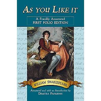 Som du kan lide det - A ærligt kommenteret første Folio oplag (kommenterede ed
