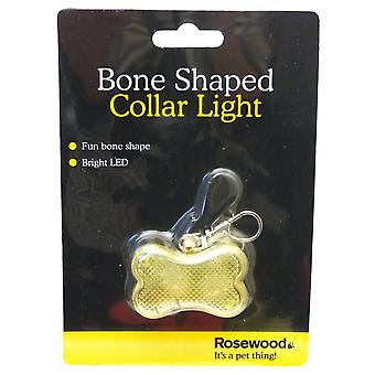 Rosewood Bone Shaped Pet Collar Light