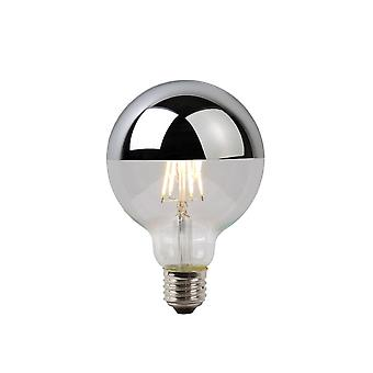 Lucide LED Bulb Vintage Globe Glass Chrome Filament Bulb