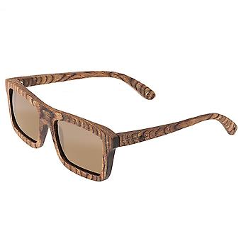 Spectrum Burrow Wood Polarized Sunglasses - Brown/Brown
