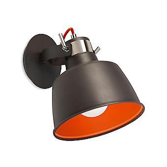 Vintage Urban grå och Orange hänge / Wall Light - lysdioder-C4 00-0240-21-Z5
