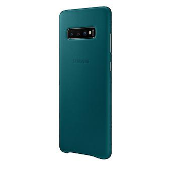 Samsung leather cover green for Samsung Galaxy S10 G973 EF VG973LGEGWW bag case protective cover