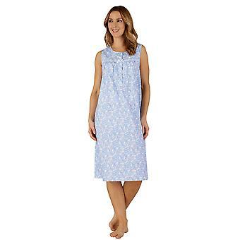 Slenderella ND3211 vrouwen katoen geweven Night Gown Lounge Pyama