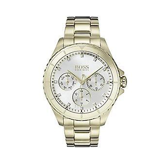 Banhado a ouro de cronógrafo 1502445 do masculino-Hugo Boss relógio quartz dial multi mulher