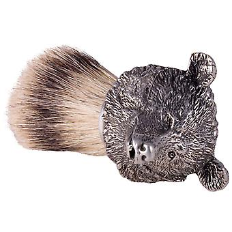 The English Pewter Co Silvertip Badger Hair Shaving Brush-Bear
