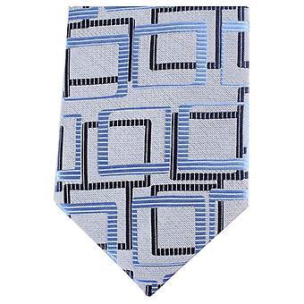 Knightsbridge halsdukar Multi Square vanlig Polyester Tie - grå/blå