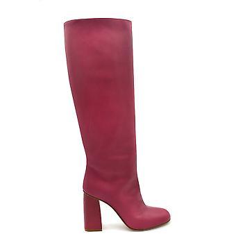 Red Valentino Ezbc026068 Women's Fuchsia Leather Boots