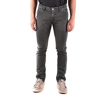 Pt05 Ezbc084053 Men's Grey Cotton Jeans