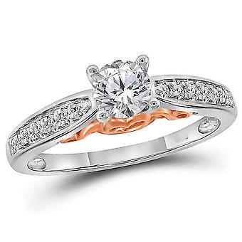 5/8 Carat (ctw SI3-I1-I2, G-H-I) Diamond Engagement Ring in 14K White Gold