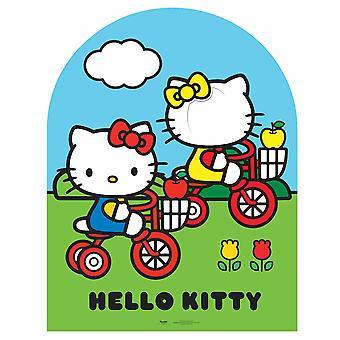 Kind grootte Hello Kitty en Mimmy karton Stand-in knipsel / Standup