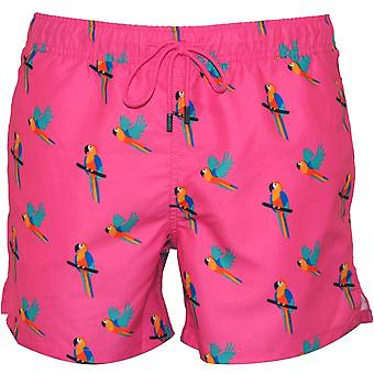 Happy Socks Parrots Swim Shorts, Candy Pink