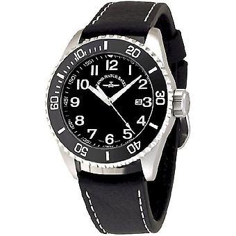 Zeno-watch mens watch Diver ceramic quartz black 6492-515Q-a1-1