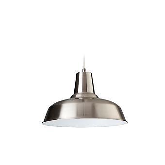 Firstlight-1 lys loft vedhæng børstet stål, hvid indeni-8623BSWH