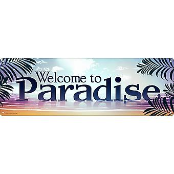 Grindstore Welcome to Paradise Slim segno di latta