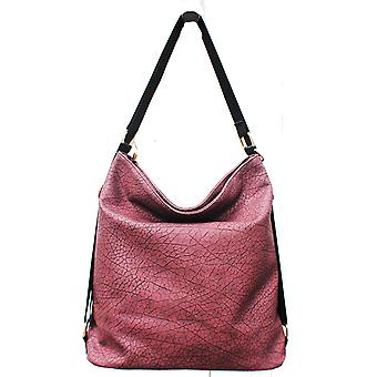 Designer large womens faux leather slouch hobo style bag