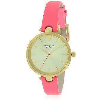 Kate Spade Neon Geranium lederen dames horloge KSW1135