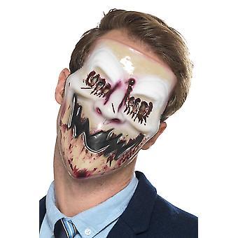 Usmieva sa krvavá hororová maska Karneval Halloween príslušenstvo krv úsmev maska