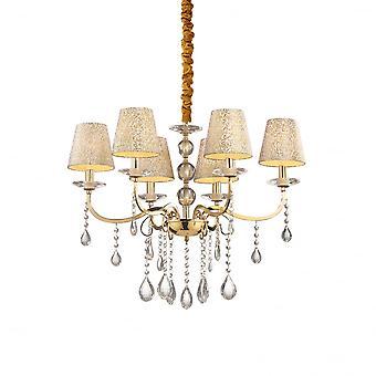 Ideale Lux Pantheon 6 Glühbirne Anhänger Licht Gold