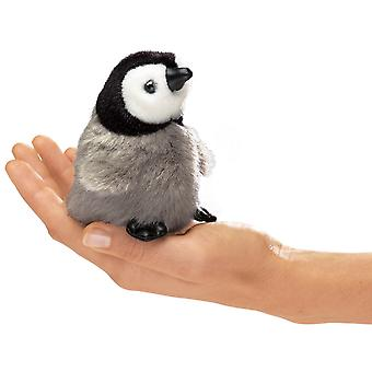 Finger Puppet - Folkmanis - Mini Penguin Emperor Baby New Doll Plush 2680