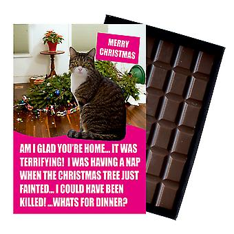 Brown Tabby Cat Christmas Gift Xmas Presents for Cat Lovers Boxed Chocolate Greeting Card Brown Tabby Cat Christmas Gift Xmas Presents for Cat Lovers Boxed Chocolate Greeting Card Brown Tabby Cat