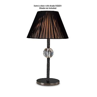 Diyas Elena Table Lamp 1 Light Without Shade Black Chrome/Crystal