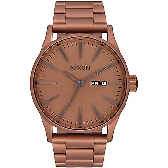 Nixon sentry ss Japanese Quartz Analog Woman Watch with A3563165 Gold-Plated Stainless Steel Bracelet