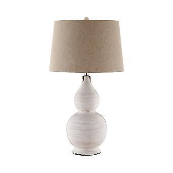 Dark brown, white harriett table lamp stein world
