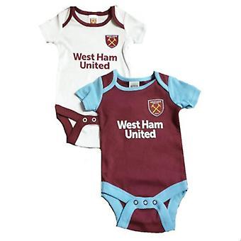 West Ham United Baby Kit 2 bodysuits Pack | 2019/20 temporada