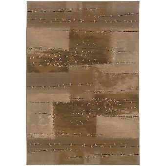 Genesis 908a1 tan/beige indoor area rug rectangle 4'x5'9