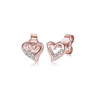 Diamore Women's Earrings in Silver 925 with Diamond - Heart