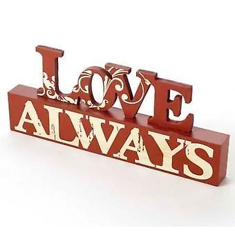 Love Always Table Top Block